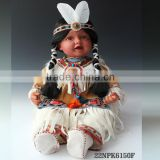 Lifelike Native Indian girl 22-inches Indian Toddler made in vinyl toddler indian costume