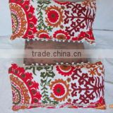 Home Decor Multi Colors Red White Black Colors Suzani Pillow Cover Manufacture In Jaipur