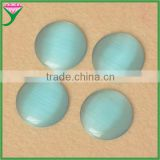 wuzhou jewelry supplier HS-06 half round cabochon imitated light blue cat eye gemstone
