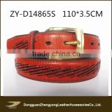 High quality fashion unisex genuine leather belt,handmade full grain cowhide leather belt