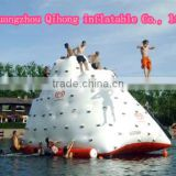Commercial high quality crazy rock climbing wall inflatable floating rock made in china