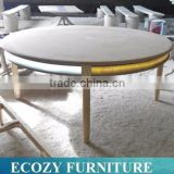 1.8m solid wooden round dining table with LED lighting stips                                                                         Quality Choice