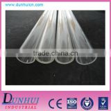 Clear plastic test tubes, transparent pipe