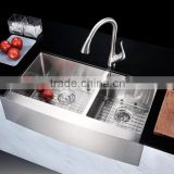 36'' Farmhouse Apron Front Farm House Double Bowl Stainless Steel Sink HS3620
