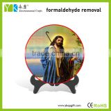 Europe style cheap round plate painted Jesus Christ statues for sale