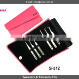 Eyelash Extension Tweezers & Scissors Set For Russian Volume Eyelash Extensions Under Custom Brand Name From ZONA