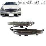 High quality S65 style LED daytime running lights for s65 front bumper for BENZ S-CLASS W221 S65 Style 1:1 REPLACEMENT