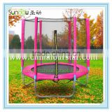 Fourstar 6FT gymnastic pink trampoline,kids indoor plastic trampoline bed,trampoline fabric,have fun and entertainment