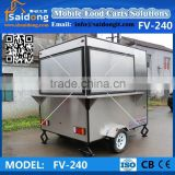 Stainless Steel Coffee Kiosks for sale food vending machine ice cream cart