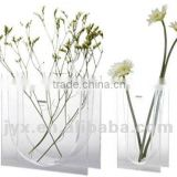 Attractive clear acrylic square vases for flowers