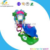Plastic boby kiddie rides with led lights and music coin operated game machine kids rides