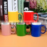 Wholesale cheap bulk promotional coffee mug/color pigment coffee cup/custom ceramic red coffee cup with logo