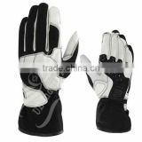 UEI-21007 white/black Go kart gloves, Karting gloves, Kart racing gloves, kart sports gloves, kart gloves