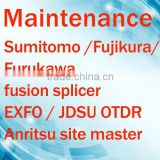 repairs maintenance calibration all kinds of telecom equipment fusion splicer, OTDR, site master