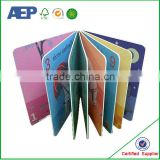 cmyk printing high quality new design children's card book printing factory price
