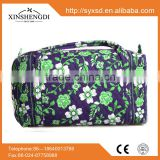 2016 Hot high quality 100% cotton quilted fabric floral fashion fancy hipster lady beach duffel travel bag