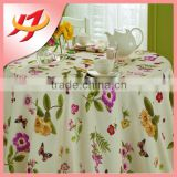 Durable home textiles bamboo table cloth printed cheap polyester tablecloths for sale