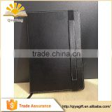 High Quality Stationery Hardcover PU Leather Moleskin Notebook With Elastic Band And Pocket