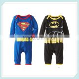 New baby romper kids long sleeve climbing clothes cotton fashion Bat man Superman jumpsuit brand