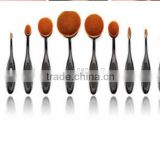 Oval Makeup 90 degree bend Brush Cosmetic Foundation Cream Face Powder Blush 10pcs Toothbrush Shape Makeup brushes Set
