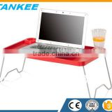 Laptop Stand With Metal Leg,Plastic Folding Table,,Bed Laptop Table