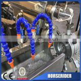 pvc fiber reinforced industrial water hose pipe machine/PVC plastic braided hose pipe making machinery cost price