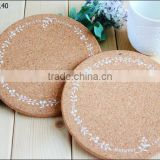 Japanese style cork printing pot pad Coasters Placemat