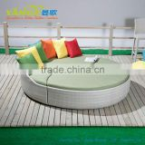 rattan daybed outdoor furniture/garden furniture/round bed on sale used hotel pool furniture