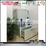 Luoyang factory sale STEELITE heavy duty bearing steel laundry cabinet metal washing machine storage rack base cabinets