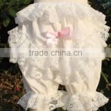 New design baby ruffle shorts girl clothes with lace rice wholesale price