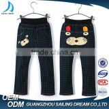 Fashion green small plaid lovely kitten printing kids pants cute design boys summer hot pants