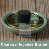 Small Decorated Charcoal Screen Ceramic Incense Burner 7cm Aromatherapy Plate for Burning frankincense Myrrh