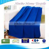 2015 Hot Super Cozy' Warm 100% Polar Fleece Throw Anti Pilling Solid Polyester Blanket
