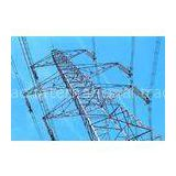40 M Climbing Electrical Tower  Angular Lattice Steel Towers 330V / 500KV /  750KV / 1000KV