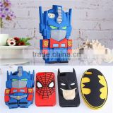 (Top selling ) Silicon Phone Case for Smart Phone Batman mobile phone case Soft Spider-man Cartoon cell phone case for Iphone6