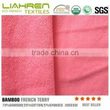 bamboo cotton spandex french terry for clothes , eco-friendly bamboo fabric, natural healthy fabric