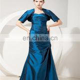 Sleeveless Evening Gowns Sweetheart Floor Length Ruched Lace-up Mother Of The Bride Dress With Jacket