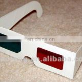 dispossable custom full color imprint paper anaglyph 3d movie glasses for promotion