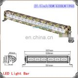 21inch 90w camo cr ee 24v led lights for truck IP68 single row 5w cr ee chips for truck