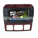 Manufacturer Quad Core Android 4.4/5.1 1024*600 Car DVD player for Benz S Class with DVB-T/wifi/3G/OBD