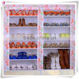2015 Newest And Cheapest Portable Standing Fabric 2 doors Shoe Rack                                                                         Quality Choice