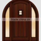 Solid wood mahogany entry double Door