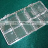 candy plastic box /plastic boxes small clear/small clear plastic packaging boxes/hard plastic cases