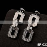 2015 High quality double square alloy jewelry earring wholesale vintage earring foe women