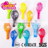 China best quality SGS approved birthday party decoration full sides printed latex balloon