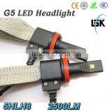 G5 led headlight 2500lm wholesale price 12v crees led lamps H8 with 2 years warranty                                                                         Quality Choice