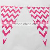 Professional Party Supplier Chevron Paper Flags Buntings for Baby shower                                                                         Quality Choice