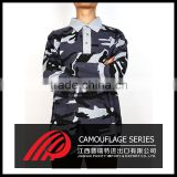 Man lapel polo unlined upper garment of college Camouflage style shirt