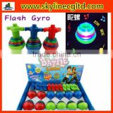 Flash spinning top toy,flash gyro toys,promotional top toy.music flash top toy