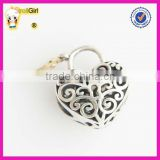 Love Heart Charm 925 sterling silver Key and Lock Charm Beads Jewelry Finding